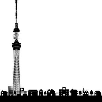 도쿄 스카이 트리와 거리