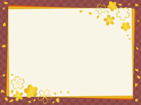 Japanese style message card Sakura