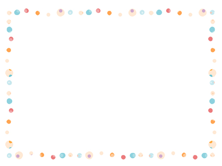Handwritten wind dot decoration frame 2
