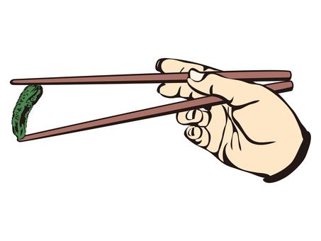 Pinch with chopsticks