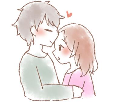 이마 키스 커플