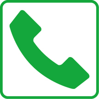 Contact icon green (phone)