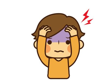 Child physical condition headache