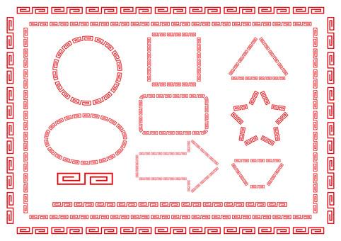 Ramen pattern [thunder] Decorative ruling set