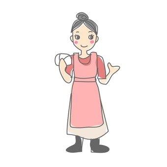 婦女的圍裙