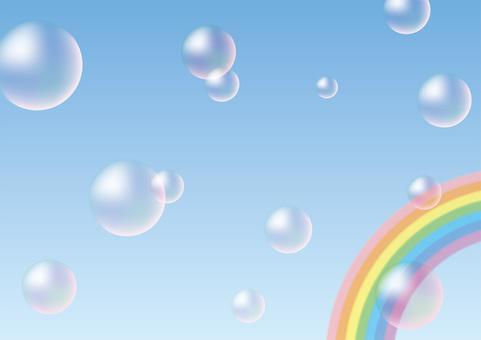 肥皂泡沫和彩虹