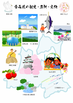 Sightseeing, sights, culture and materials of Aomori Prefecture