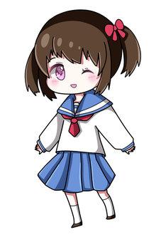 水手服的女孩