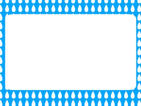 Drop pattern frame