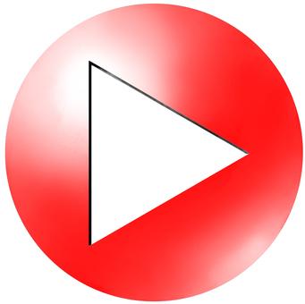 円形アイコンtype2 三角矢印 赤