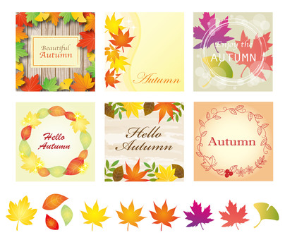 Autumn frame design sample