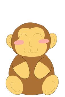 Daruma monkey