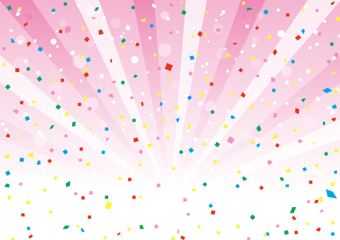Confettiy and concentration line background material 03