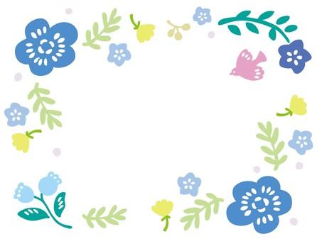 북유럽 풍의 꽃 프레임