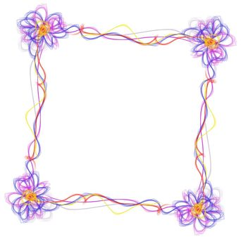 花装饰框架