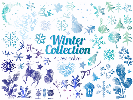 Design: watercolor and winter collection