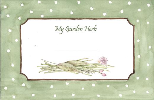 Garden herb label 1