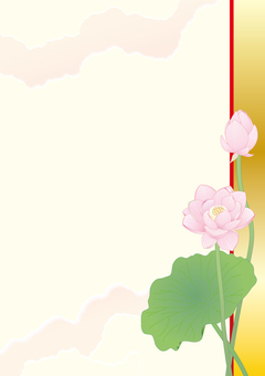 Lotus flower _ Paper vertical plate _ gold