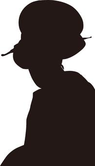 Ukiyo-e character silhouette part 163
