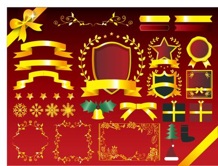 Christmas ribbon material