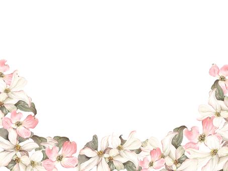 Flower frame - 126 - Flower frame of dogwood
