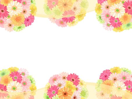 ガーベラの花てまり枠(ベール:黄色)