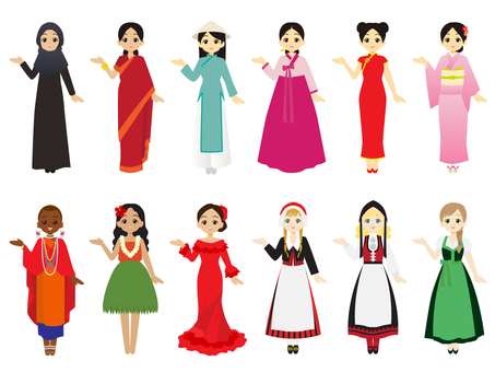 Women wearing traditional costumes