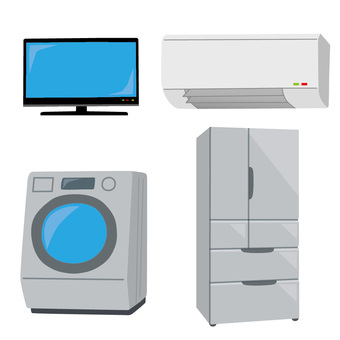 Television · Air conditioner · Washing machine · Refrigerator
