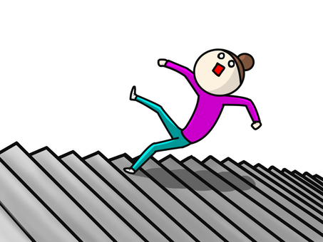 Person who steps over the stairs