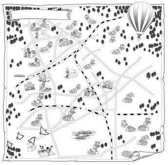 イラストマップ 大和市