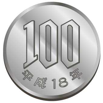 Money · 100 yen coin