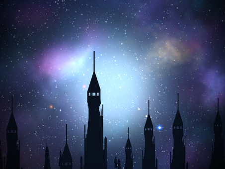 Towers and Starry Sky 7