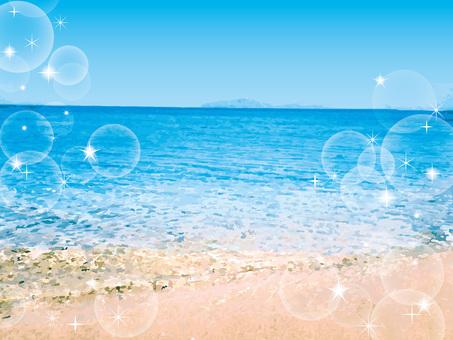 海波模様水面海面背景リゾート南国波打ち際