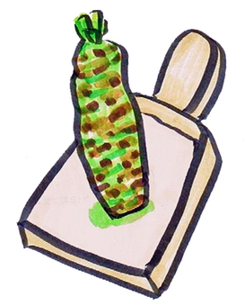 Grated wasabi