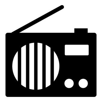 Radio icon 1 (black and white