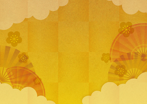 Gilt background with clouds