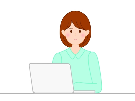 Computer, women, woman
