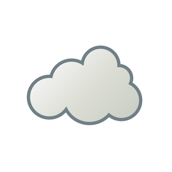 """Weather icon """"Cloud 2"""""""