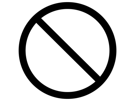 Prohibited design prohibition mark