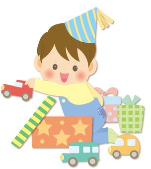 クリスマス_プレゼントと子供