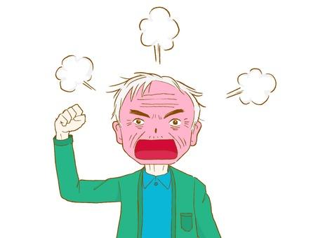 Angry elderly people