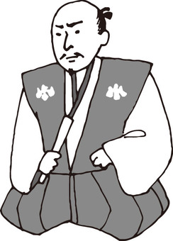 Warrior (Nobunaga Oda · monochrome)