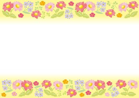 Spring flower frame 6