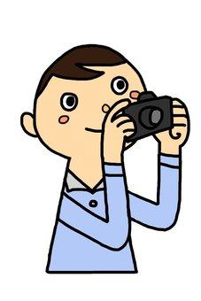 Men taking pictures