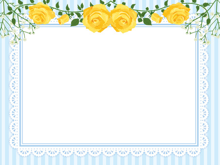 Father's Day roses garland decoration card yellow 06