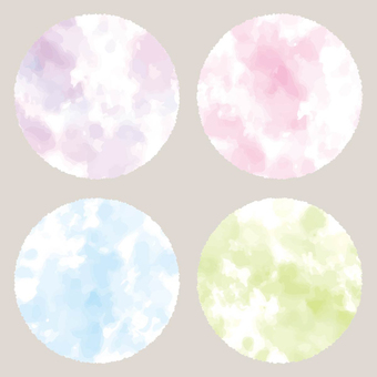 Watercolor-style marble background material 01