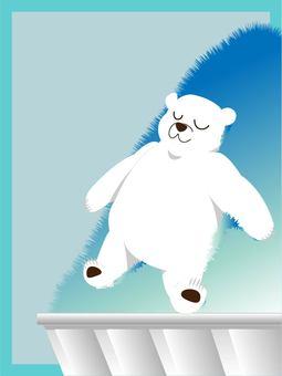 與北極熊和刨冰的明信片