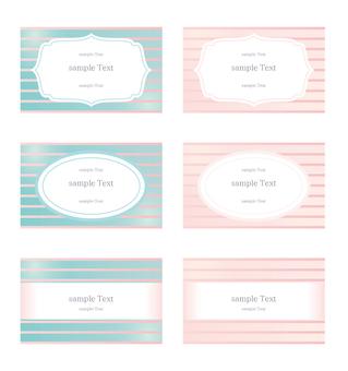 Gradient stripe business card set
