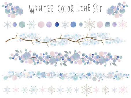 Winter color line set ver 01