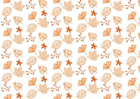 Autumn plant hand-painted illustration background